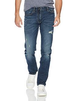 Calvin Klein Men's Slim , Crashed Indigo, 34W x 32L