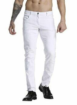 ZLZ Slim Fit Jeans for Men Super Comfy Stretch Skinny Straig