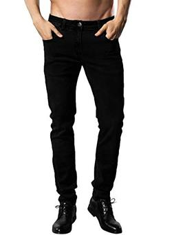 ZLZ Slim Fit Jeans, Men's Younger-Looking Fashionable Colorf