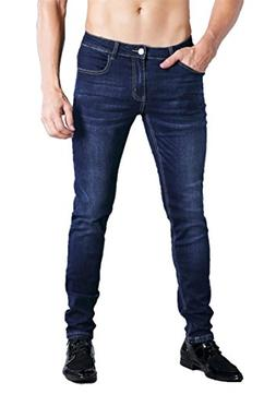 ZADDIC Skinny Fit Jeans Men's Younger-Looking Fashionable Co