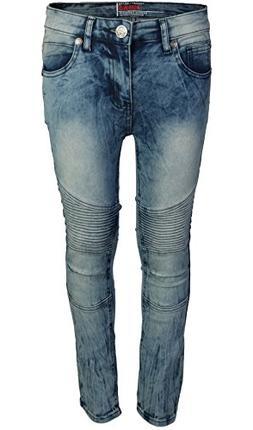 CDB Boys Slim Fit Stretch Fashionable Moto Jeans, Moto Mediu
