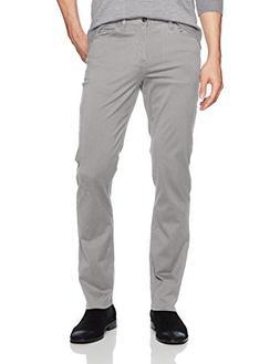 Perry Ellis Men's Slim Fit Stretch Five Pocket Satin Pant, A