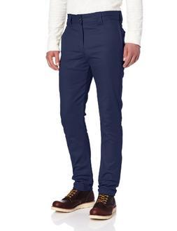 Dickies Men's Slim Skinny Fit Twill Work Pant, Deep Blue, 36