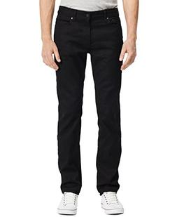 Calvin Klein Jeans Men's Slim Straight Fit Denim, Black, 32x