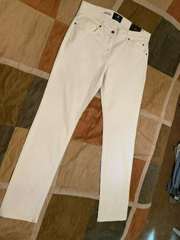 7 For All Mankind slimmy white luxe performance denim jeans