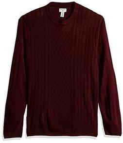 Dockers Men's Soft Acrylic Crewneck Sweater, Burgundy, Small