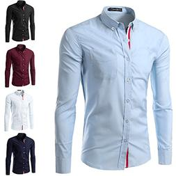 OnIn HOT SALE Solid Color Men Shirt mens shirts Casual Camis