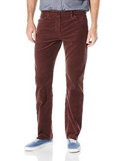 Volcom Men's Solver 5 Pocket Cord Pant, Plum, 28