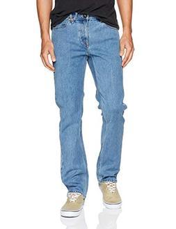 Volcom Men's Solver Modern Fit Denim Jeans, Stone Blue, 34X3