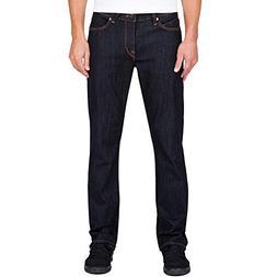 Volcom Men's Solver Modern Fit Denim Jeans, Rinse, 34X32
