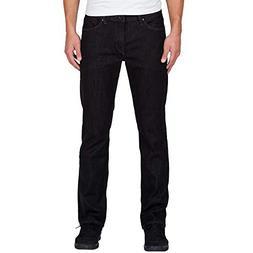 Volcom Men's Solver Modern Fit Denim Jeans, Black Rinser, 32