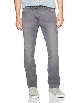 Volcom Men's Solver Stretch Denim Jean, Power Grey, 32X32