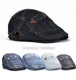 ZHX Spring Summer Jeans Hats Men Women Casual Unisex Denim B