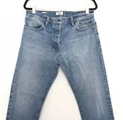 Buck Mason Standard Fit Light Wash Men's size 34x32 Jeans NW
