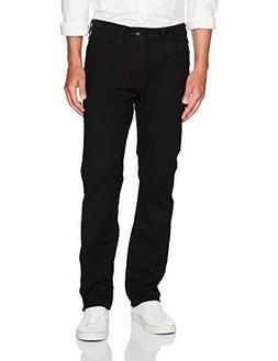 Nautica Men's Straight Fit Jean, Black Ink, 36W 30L
