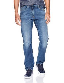 Calvin Klein Men's Straight Fit Jeans, Houston Mid Blue, 32W