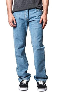 Victorious Mens Straight Fit Color and Raw Denim Jeans DL105