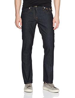 True Religion Men's Straight Jean with Flap Back Pockets, Bo