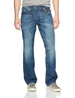 True Religion Men's Straight Jean with Flap Back Pockets, Lo