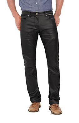 Agile Stretch Fashion Casual Leather Pants APL44798SK PK3 Bl
