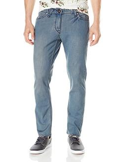 Volcom Men's 2X4 Stretch Denim Jean, Smokey Blue, 29X32