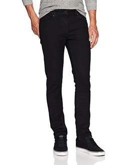 Volcom Men's 2x4 Stretch Denim Jean Pants, Blackout, 34X30