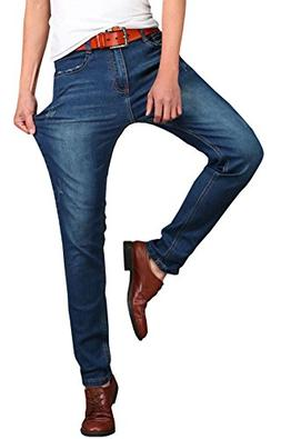 Men's Stretch Fit Casual Denim Jeans Pants, Dark Blue, 44