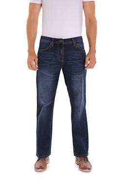 Indigo alpha Regular Stretch Straight Fit Blue Jeans for Men