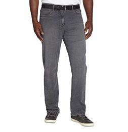 Urban Star Mens Relaxed Fit Stretch/Straight Leg Jeans, Grey