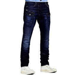 Stylish Fashion 6 Pocket Style Denim Blue Mens Jeans Trouser