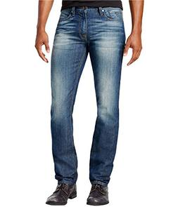 GUESS Mens Stylish Skinny Fit Jeans Blue 33x30