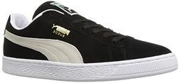 PUMA Suede Classic Sneaker,Black/White,10.5 M US Men's