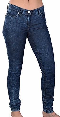 adidas Originals Women's Super Skinny Acid Wash Pants-Dark-2