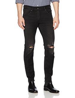 Silver Jeans Men's Taavi Slim Fit Skinny Leg Jeans, Black, 3