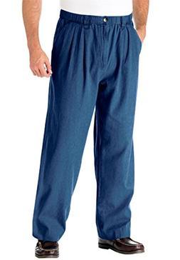 KingSize Men's Big & Tall Knockarounds Pleated Pants In Twil