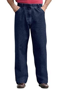 KingSize Men's Big & Tall Loose Fit Comfort Waist Jeans, Ind