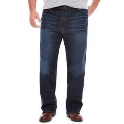 The Foundry Big & Tall Flex Denim Relaxed Straight Jeans Dar