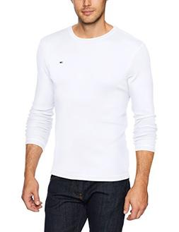 Tommy Jeans Men's Long Sleeve T-Shirt, Classic White, Medium