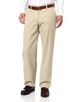 Lee Men's Total Freedom Relaxed Classic Fit Flat Front Pant,