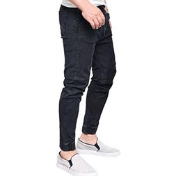 AMSKY❤ Men Trouser, Fashion Slim Biker Hiphop Basic Denim