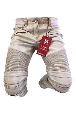Men's Victorious Jeans Skinny Leg Distressed Khaki Beige Den