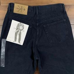Vintage 90s Dead Stock Calvin Klein Mens Size 30 Black Easy