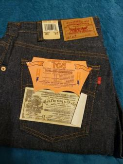 Vintage DEADSTOCK Levi's 501 Jeans Shrink to Fit 1987 Red La