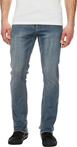 Volcom Men's Vorta Slim Fit Stretch Denim Jean, Seventies In