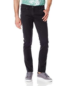 Volcom Men's Vorta Slim Fit Stretch Denim Jean, Ink Black, 3
