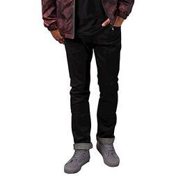 Volcom Men's Vorta Stretch Denim Jean, Black Selvedge, 34X32