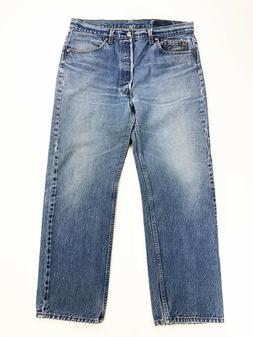 Vtg Levi's 501 Button Fly Blue Denim Jeans  USA Pants 38X30