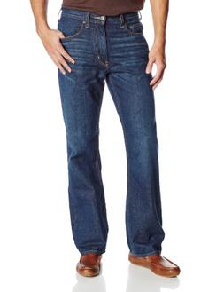 Haggar Men's 1-Year Wash Straight Fit 5-Pocket Denim Jean, D