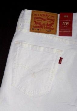 WHITE Levi's 511 SLIM Jeans: 045111943