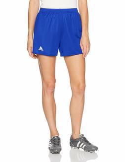 adidas Women's Parma 16 Soccer Shorts, Bold Blue-White, Medi